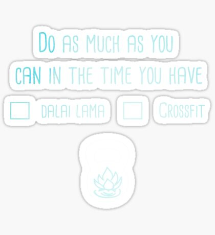 Dalai Lama or Crossfit? Just the Lettering  Sticker