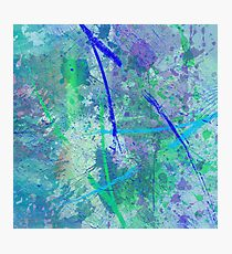 Aquatic Abstract - In Green And Blue Photographic Print