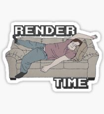 Render Time Sticker