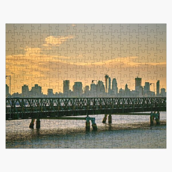 Manhattan skyline and pier Jigsaw Puzzle Jigsaw Puzzle