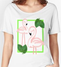 Tropical Pink Flamingos Women's Relaxed Fit T-Shirt
