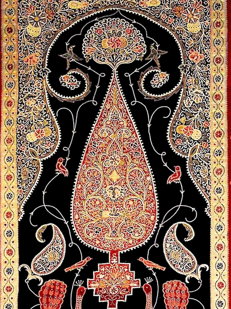 Antique Persian Silk Rashti-Duzi Print by bragova