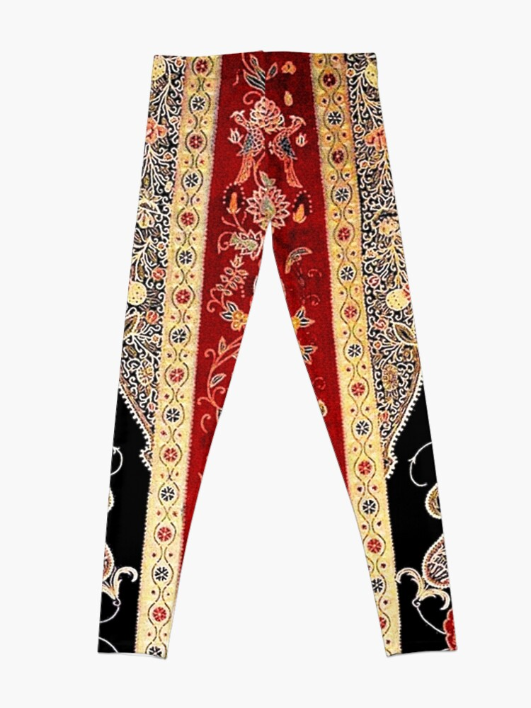 Alternate view of Antique Persian Silk Rashti-Duzi Print Leggings