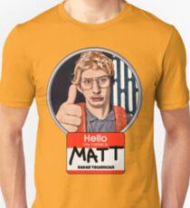 Bonjour mon nom est Matt T-shirt ajusté