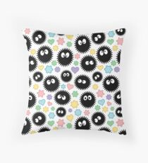 Soot Sprites & Candies - repeat pattern Throw Pillow