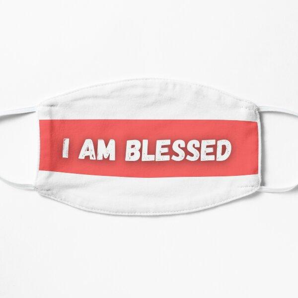 I am Blessed Design Print Flat Mask