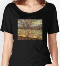 'Apricot Trees In Blossom' by Vincent Van Gogh (Reproduction) Women's Relaxed Fit T-Shirt