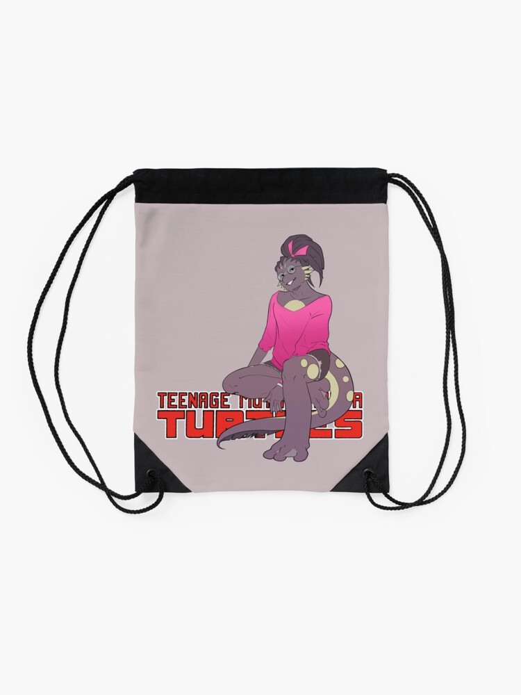 Alternate view of Mona Lisa TMNT Drawstring Bag
