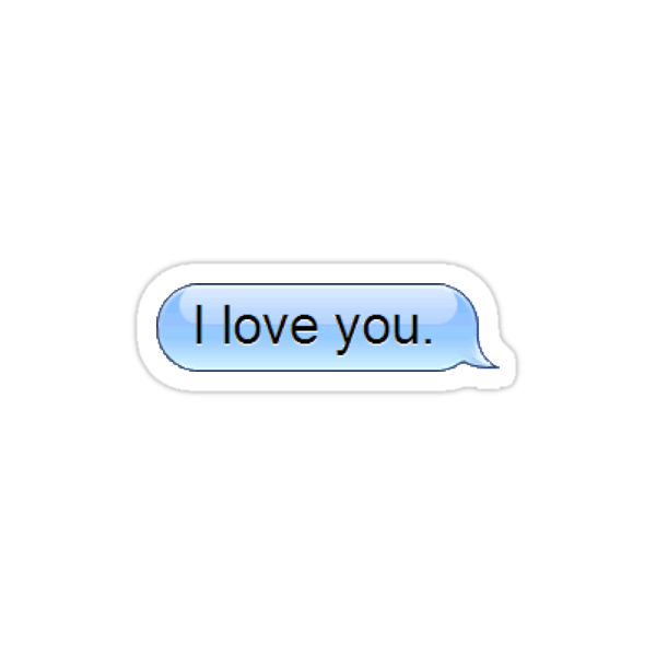 """I love you text message sticker and phone skin "" Stickers ..."