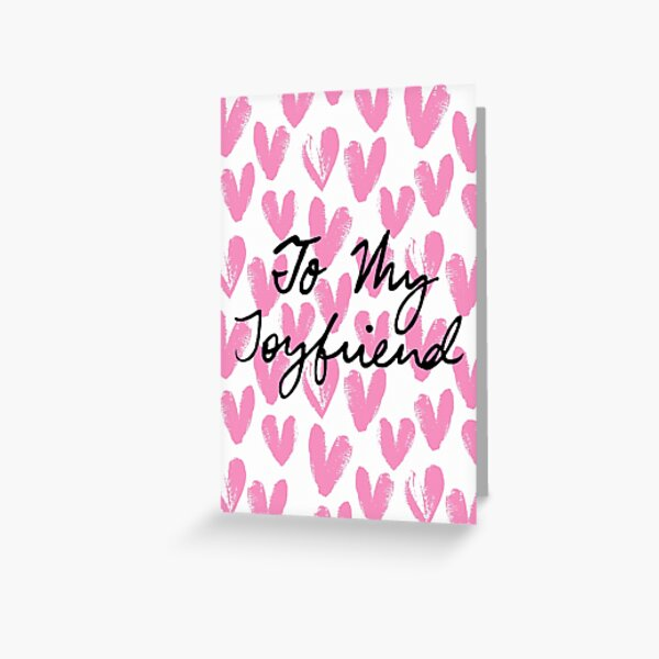 To My Joyfriend Painted Hearts Greeting Card