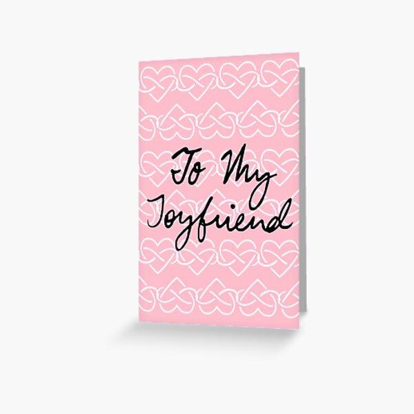 To My Joyfriend Pink Infinity Hearts Greeting Card