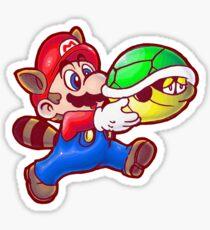 Raccoon Mario Sticker