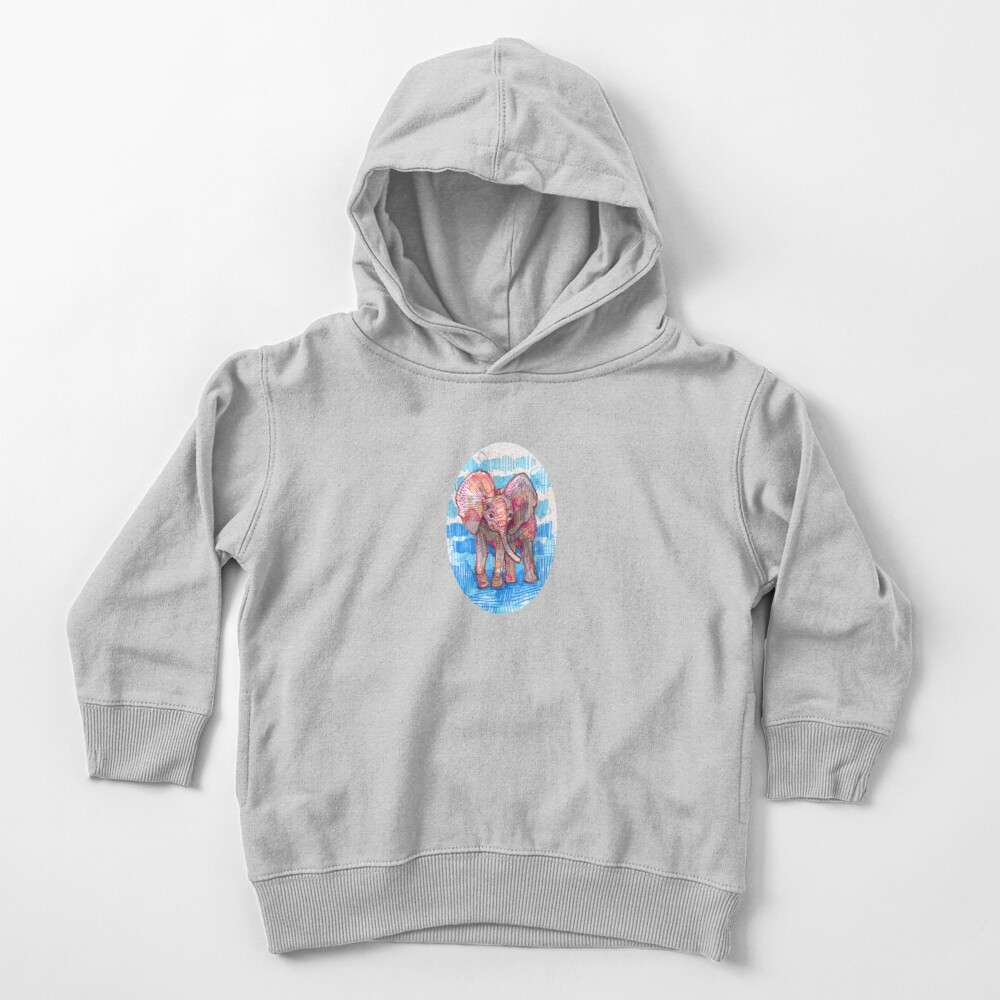 Elephant Baby Drawing - 2011 Toddler Pullover Hoodie