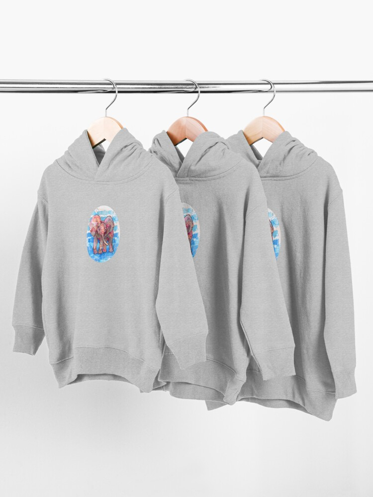 Alternate view of Elephant Baby Drawing - 2011 Toddler Pullover Hoodie