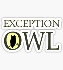 Exceptional Exception Owl Sticker