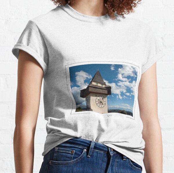 Graz Austria Glockenturn (Clock tower) on Schlossberg. Classic T-Shirt