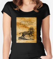 Second Coming - William Butler Yeats - Parchment Women's Fitted Scoop T-Shirt