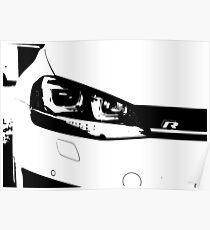 VW Golf R MK7 Poster