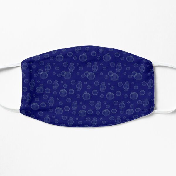 Blue bubbles state of water  Flat Mask