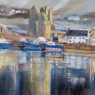 Reflections, Scalloway harbour by Redbarron