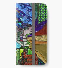 Beauty and the Beast-- stained glass castle (sideways) iPhone Wallet/Case/Skin