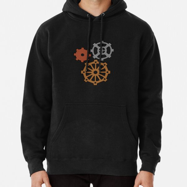 Steampunk Gears in Bronze, Steel and Copper for Inventors, Engineers and SciFi Nerds/Geeks Pullover Hoodie