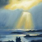 Ray's shine down on Scalloway by Redbarron