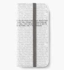 Litany against fear iPhone Wallet/Case/Skin