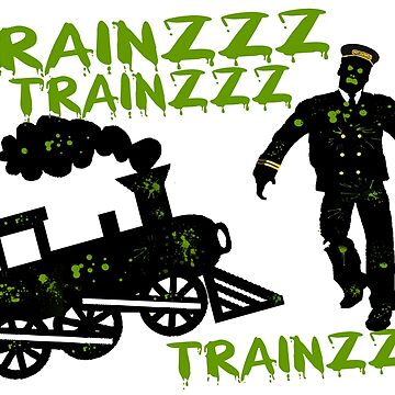Zombie Train Conductor by FireFoxxy