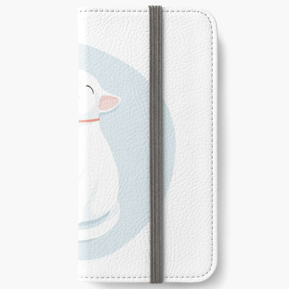 Cat White iPhone Wallet