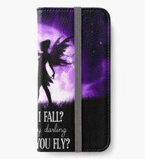 Was, wenn ich falle? Oh, aber mein Schatz, was ist, wenn du fliegst? iPhone Flip-Case/Hülle/Klebefolie
