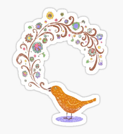 Birdsong Sticker