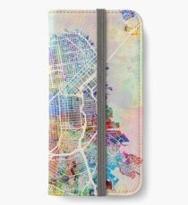San Francisco City Street Map iPhone Wallet/Case/Skin