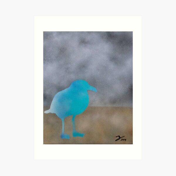 Chill like a seagull Art Print