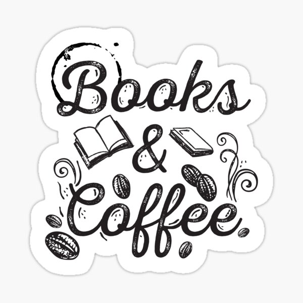 Books & Coffee Sticker
