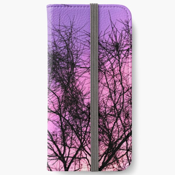 Purple Sunset Through the Trees iPhone Wallet