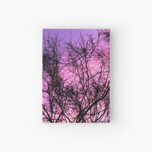 Purple Sunset Through the Trees Hardcover Journal