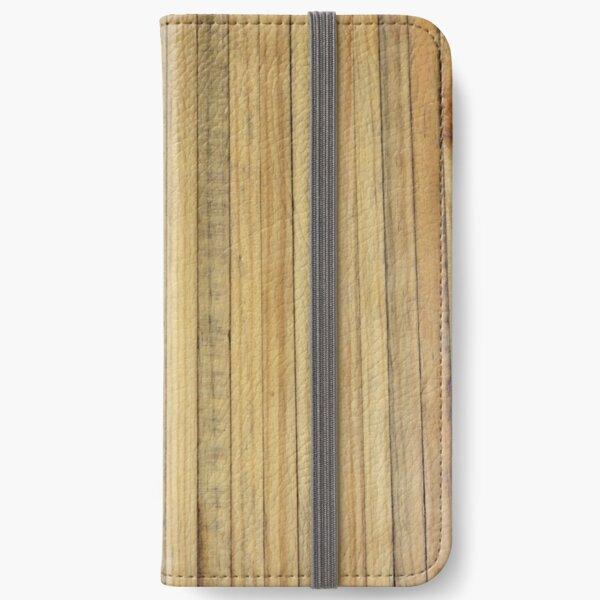 Reclaimed Butcherblock iPhone Wallet