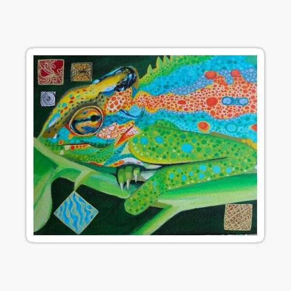 Pensive Chameleon  Sticker