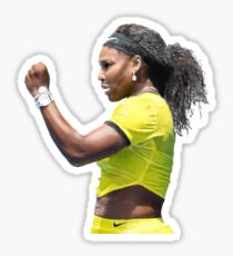 Digital Painting of Serena Williams Sticker