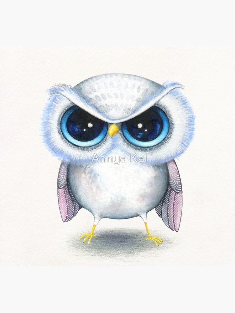 Grumpy Bird by ClearJadeStudio