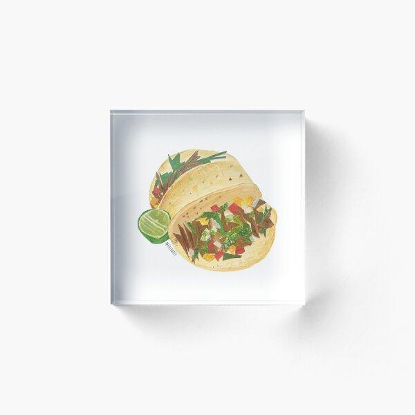 Basic Mission Tacos Acrylic Block