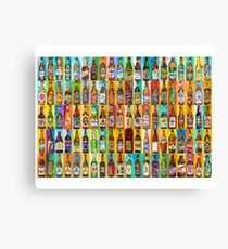 100 Bottles of Beer Poster - Perfert for College Dorms, Bar Decor, Man Cave Canvas Print