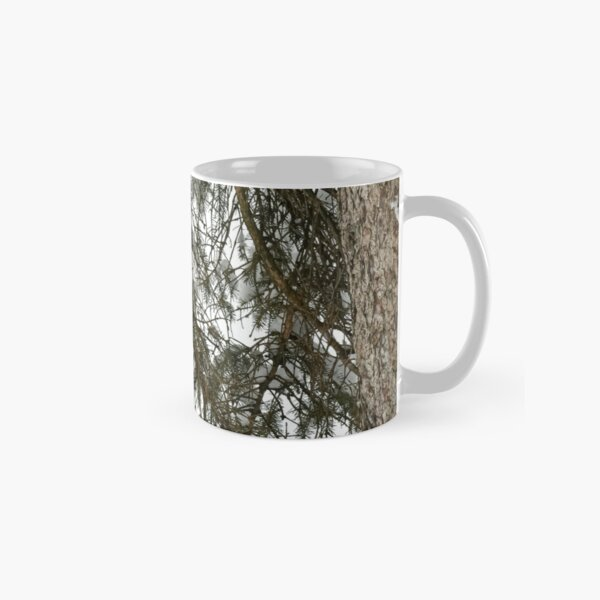 Snow Covered Pine Branch  Classic Mug