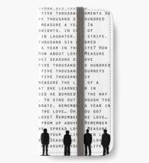 Jahreszeiten der Liebe (Schwarz) iPhone Flip-Case/Hülle/Klebefolie