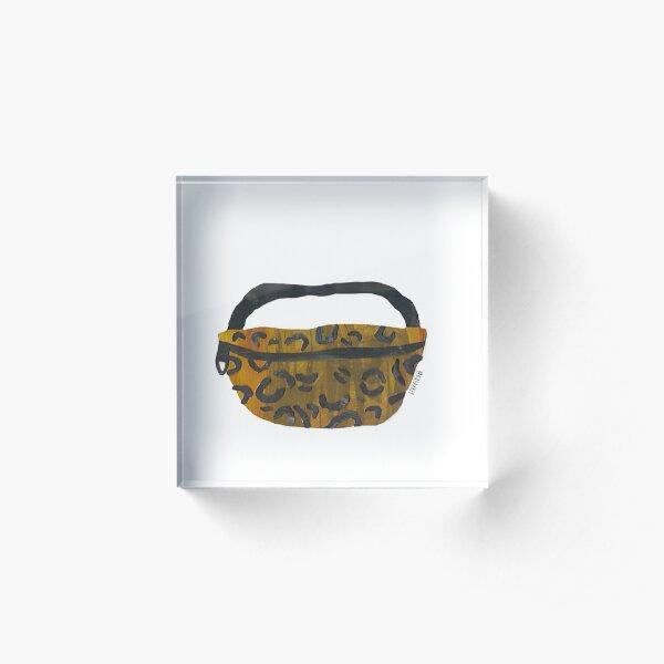 Basic Leopard Pouch Acrylic Block