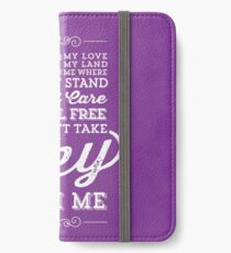 You Can't Take the Sky From Me - Purple iPhone Wallet/Case/Skin