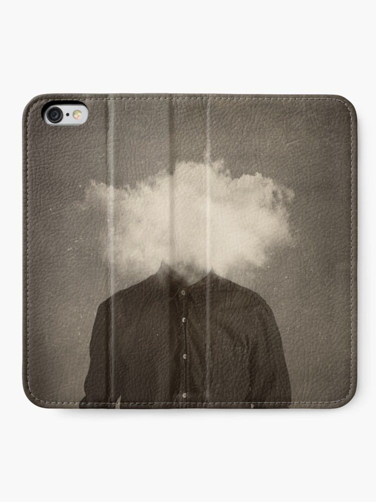 Alternate view of head in the clouds iPhone Wallet