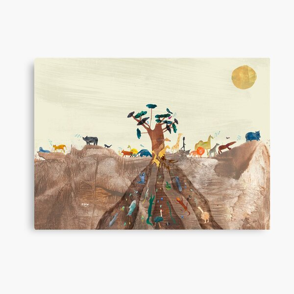 African Animal Creation Story Canvas Print