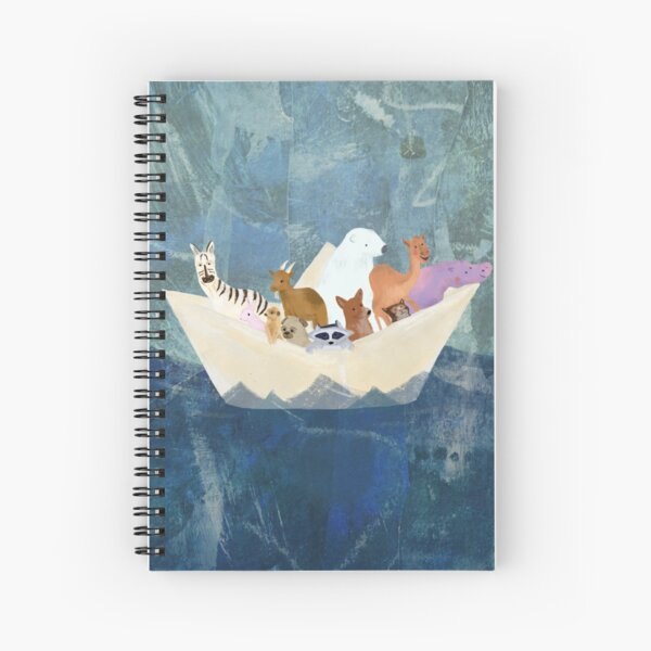 Paper Boat Party  Spiral Notebook